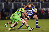 Max Lahiff of Bath Rugby in possession. Aviva Premiership match, between Bath Rugby and Northampton Saints on February 9, 2018 at the Recreation Ground in Bath, England. Photo by: Patrick Khachfe / Onside Images