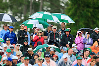 Umbrellas up for the rain during the 2nd round at the The Masters , Augusta National, Augusta, Georgia, USA. 12/04/2019.<br /> Picture Fran Caffrey / Golffile.ie<br /> <br /> All photo usage must carry mandatory copyright credit (© Golffile | Fran Caffrey)