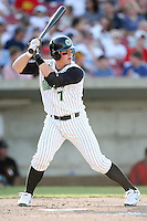 May 25, 2008: Danny Hamblin (7) of the Kane County Cougars at bat against the Quad Cities River Bandits at Elfstrom Stadium in Geneva, IL. Photo by: Chris Proctor/Four Seam Images