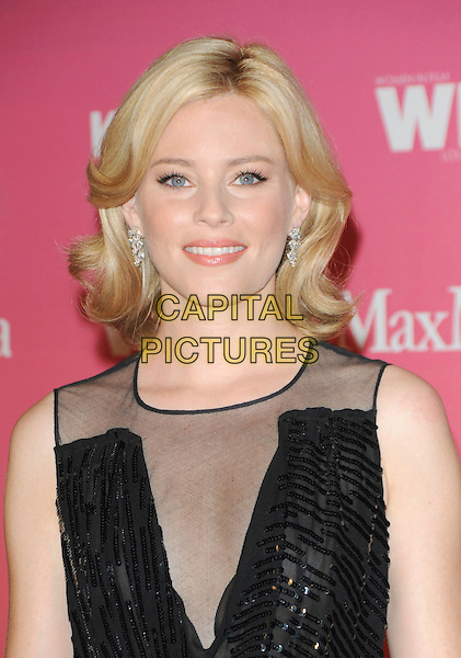ELIZABETH BANKS .at The Women in Film 2009 Crystal .and Lucy Awards held at The Hyatt Regency Century Plaza in Century City, California, USA, June 12th 2009                                                                     .portrait headshot black mesh beaded sequined .CAP/DVS.©Debbie VanStory/RockinExposures/Capital Pictures