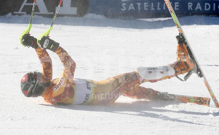 Ski Alpin; Saison 2006/2007  Slalom Herren JUBEL; Michael Janyk (CAN)