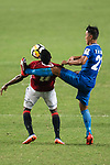 SC Kitchee Defender Kin Man Tong (R) fights for the ball with Awal Mahama of Pegasus (L) during the week three Premier League match between Hong Kong Pegasus and Kitchee at Hong Kong Stadium on September 17, 2017 in Hong Kong, China. Photo by Marcio Rodrigo Machado / Power Sport Images