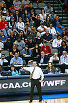 DALLAS, TX - MARCH 31: Head coach Vic Schaefer of the Mississippi State Lady Bulldogs makes play adjustments during the 2017 Women's Final Four at American Airlines Center on March 31, 2017 in Dallas, Texas. (Photo by Tim Nwachukwu/NCAA Photos via Getty Images)