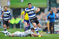 Horacio Agulla goes on the attack. Amlin Challenge Cup quarter-final, between Bath Rugby and CA Brive on April 6, 2014 at the Recreation Ground in Bath, England. Photo by: Patrick Khachfe / Onside Images