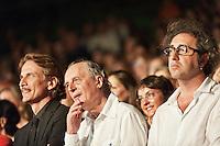 PESCARA (PE) 08/07/2012 - 39° FILM FESTIVAL INTERNAZIONALE FLAIANO. PREMIAZIONE FINALE. IN FOTO I REGISTI DARIO ARGENTO E PAOLO SORRENTINO .FOTO DI LORETO ADAMO