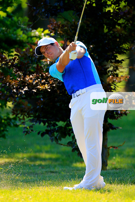 Adrien Saddier (FRA) during the second round of the Lyoness Open powered by Organic+ played at Diamond Country Club, Atzenbrugg, Austria. 8-11 June 2017.<br /> 09/06/2017.<br /> Picture: Golffile | Phil Inglis<br /> <br /> <br /> All photo usage must carry mandatory copyright credit (&copy; Golffile | Phil Inglis)