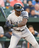 New York Yankees left fielder Cameron Maybin (38) draws a walk in the second inning against the Baltimore Orioles at Oriole Park at Camden Yards in Baltimore, MD on Wednesday, May 22, 2019.<br /> Credit: Ron Sachs / CNP<br /> (RESTRICTION: NO New York or New Jersey Newspapers or newspapers within a 75 mile radius of New York City)