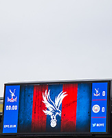 Scoreboard ahead of the Premier League match between Crystal Palace and Manchester City at Selhurst Park, London, England on 31 December 2017. Photo by Andy Rowland.