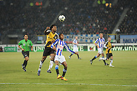 VOETBAL: SC HEERENVEEN: Abe Lenstra Stadion, 17-02-2012, SC-Heerenveen-NAC, Eredivisie, Eindstand 1-0, Rajiv van La Parra, Milano Koenders, ©foto: Martin de Jong