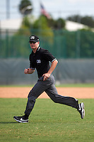 Umpire Sam Burch during a Pittsburgh Pirates instructional league intrasquad black and gold game on September 23, 2015 at Pirate City in Bradenton, Florida.  (Mike Janes/Four Seam Images)