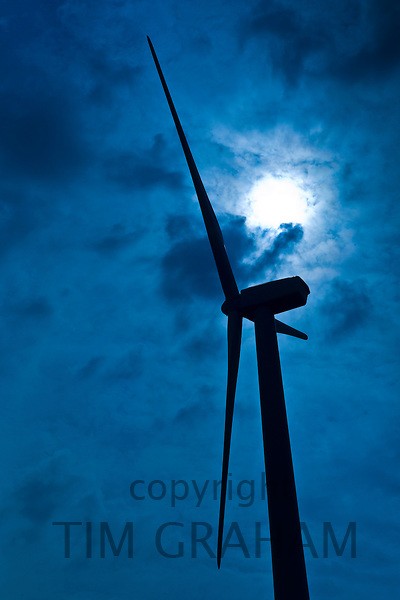 Wind turbine at Airtricity, Richfield Wind Farm at Kilmore, County Wexford, Ireland