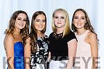 Rebbeca, Leah O'Shea, Laura O'Sullivan and Amy O'Shea Killarney enjoying the Kerry GAA gala ball in the INEC on Saturday night