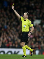 Referee Pavel Kralovec<br /> <br /> Photographer Rob Newell/CameraSport<br /> <br /> UEFA Europa League Quarter-Final First Leg - Arsenal v CSKA Moscow - Thursday 5th April 2018 - The Emirates - London<br />  <br /> World Copyright &copy; 2018 CameraSport. All rights reserved. 43 Linden Ave. Countesthorpe. Leicester. England. LE8 5PG - Tel: +44 (0) 116 277 4147 - admin@camerasport.com - www.camerasport.com
