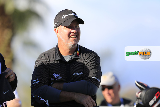 Boo Weekley (USA) on the 1st tee during Saturday's Round 3 of the 2017 CareerBuilder Challenge held at PGA West, La Quinta, Palm Springs, California, USA.<br /> 21st January 2017.<br /> Picture: Eoin Clarke | Golffile<br /> <br /> <br /> All photos usage must carry mandatory copyright credit (&copy; Golffile | Eoin Clarke)