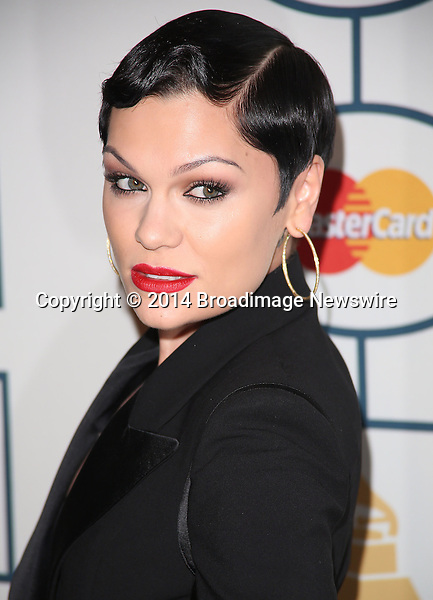 Pictured: Jessie J <br /> Mandatory Credit &copy; Frederick Taylor/Broadimage<br /> The 56th Annual GRAMMY Awards - Pre-GRAMMY Gala And Salute To Industry Icons Honoring Lucian Grainge - Arrivals<br /> <br /> 1/25/14, Beverly Hills, California, United States of America<br /> <br /> Broadimage Newswire<br /> Los Angeles 1+  (310) 301-1027<br /> New York      1+  (646) 827-9134<br /> sales@broadimage.com<br /> http://www.broadimage.com