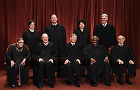 JUN 01 The Justices of the US Supreme Court sit for their Official Photograph