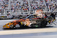 Sept. 15, 2012; Concord, NC, USA: NHRA funny car driver Bob Gilbertson during qualifying for the O'Reilly Auto Parts Nationals at zMax Dragway. Mandatory Credit: Mark J. Rebilas-
