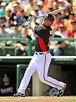 8 March 2011: Atlanta Braves third baseman Chipper Jones in action during a Spring Training game against the New York Yankees at Champion Park in Orlando, Florida. The Yankees edged out the Braves 5-4 in Grapefruit League action. Mandatory Credit: Ed Wolfstein Photo