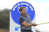 Robert Rock (ENG) on the 11th tee during Round 3 of the Open de Espana 2018 at Centro Nacional de Golf on Saturday 14th April 2018.<br /> Picture:  Thos Caffrey / www.golffile.ie<br /> <br /> All photo usage must carry mandatory copyright credit (&copy; Golffile | Thos Caffrey)