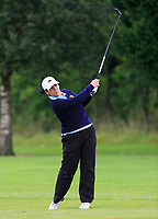 Eilish O'Connell (Tullamore) on the 1st fairway during the Final round of the Irish Mixed Foursomes Leinster Final at Millicent Golf Club, Clane, Co. Kildare. 06/08/2017<br /> Picture: Golffile | Thos Caffrey<br /> <br /> <br /> All photo usage must carry mandatory copyright credit      (&copy; Golffile | Thos Caffrey)