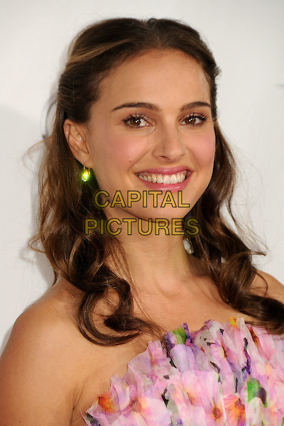 "NATALIE PORTMAN.AFI Fest 2010 Closing Night Gala Screening of ""Black Swan"" held at Grauman's Chinese Theatre, Hollywood, California, USA..November 11th, 2010.headshot portrait pink floral print strapless natural make-up beauty .CAP/ADM/BP.©Byron Purvis/AdMedia/Capital Pictures."