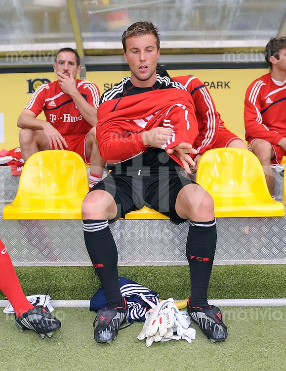 Fussball 1. Bundesliga :  Saison   2009/2010   5. Spieltag  12.09.2009 Borussia Dortmund - FC Bayern Muenchen Torwart Michael Rensing (FCB)