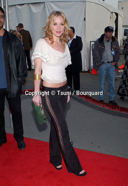 Christina Applegate arrives at the 29th Annual American  Music Awards at the Shrine Auditorium in Los Angeles   Wednesday, Jan. 9, 2002. ApplegateChristina01B.JPG