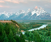 Snake River and Teton Range from Snake River Overlook, Grand Teton National Park, Wyoming