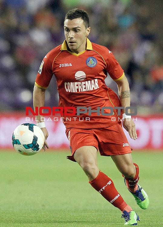 Getafe's Adrian Colunga during La Liga match.August 31,2013. Foto © nph / Acero)