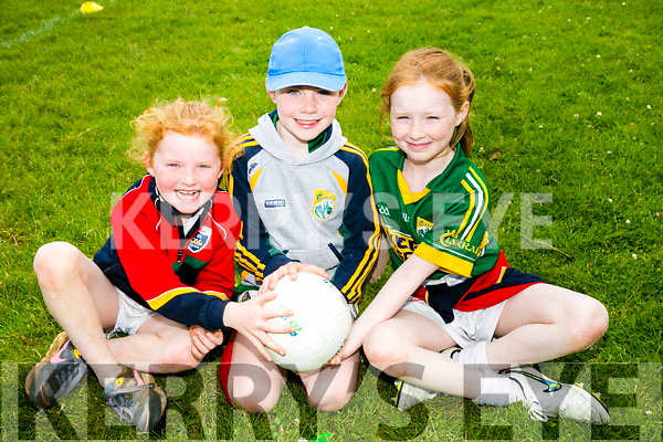 l-r  Jennifer Barrett, Diarmuid Quirke and Alise Barrett. at the Cúl Camps, Milltown/ Castlemaine on Monday