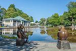 Summer at the Frog Pond in Boston Common, Boston, Massachusetts, USA