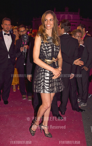 Hilary Swank walks the red carpet during the Life Ball 2013 held in Vienna, Austria. 25/05/2013 Manuela Larissegger/CatchlightMedia/Featureflash