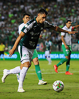 PALMIRA - COLOMBIA, 26-05-2019: Juan Ignacio Dinenno del Cali en acción durante el partido entre Deportivo Cali y Atlético Nacional por la fecha 4, cuadrangulares semifinales, de la Liga Águila I 2019 jugado en el estadio Deportivo Cali de la ciudad de Palmira. / Juan Ignacio Dinenno of Cali in action during match for the date 4, semifinal quadrangulars,, between Deportivo Cali and Atletico Nacional of the Aguila League I 2019 played at Deportivo Cali stadium in Palmira city.  Photo: VizzorImage / Nelson Rios / Cont