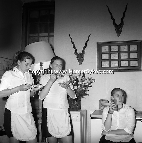 Quantock Stag Hounds Hunt Ball at Bagborough House. Kitchen staff.West Bagborough, Somerset, UK