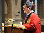Mayor of Drogheda Kevin Callan at the SOSAD mass in the Augustinian church. Photo: Colin Bell/pressphotos.ie