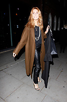 LONDON, ENGLAND - OCTOBER 08 :  Stacey Dooley leaves the production of 'Strictly Come Dancing : It Takes Two', at The Hospital Club Studios on October 08, 2018 in London, England.<br /> CAP/AH<br /> &copy;AH/Capital Pictures