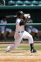 Jacksonville Suns outfielder Kenny Wilson (3) in action during a game against the Pensacola Blue Wahoos at Bragan Field on the Baseball Grounds of Jacksonville on May 11, 2015 in Jacksonville, Florida. Jacksonville  defeated Pensacola 5-4. (Robert Gurganus/Four Seam Images)