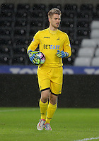 Pictured: Gregor Zabret of Swansea Tuesday 28 February 2017<br /> Re: Premier League International Cup, Swansea City U23 v Hertha Berlin II at at the Liberty Stadium, Swansea, UK