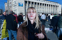 Evropo ujedini se! Sarajevo u Evropu. Zadovoljna sam sa Evropskom Unijom. / Europe unite! Sarajevo into Europe. I'm satisfied with the European Union.