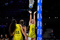 Central Manawa&rsquo;s Rochelle Fourie in action during the Beko Netball League - Central Manawa v Waikato Bay of Plenty at TSB Bank Arena, Wellington, New Zealand on Sunday 21 April 2019. <br /> Photo by Masanori Udagawa. <br /> www.photowellington.photoshelter.com