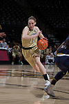 Ivana Raca (11) of the Wake Forest Demon Deacons drives to the basket during first half action against the Notre Dame Fighting Irish at the LJVM Coliseum on December 31, 2017 in Winston-Salem, North Carolina.  The Fighting Irish defeated the Demon Deacons 96-73.  (Brian Westerholt/Sports On Film)
