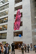October 6, 2011  (Washington, DC)  Several dozen people converged on the Hart senate office building today, to protest the United States on-going war efforts.  The demonstration, which led to five arrests, was organized by October 2011 and Veterans For Peace.  (Photo by Don Baxter/Media Images International)