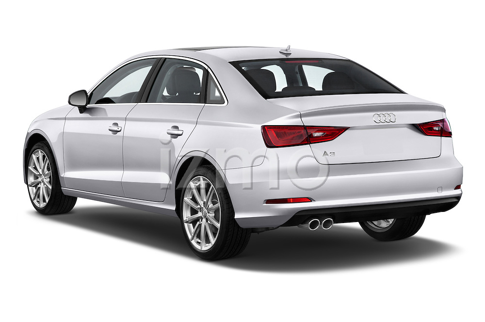 Rear three quarter view of a 2015 Audi A3 2.0 T DSG 4 Door Sedan