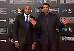 The actor Denzel Washington and the director Antoine Fucua in the international film festival from San Sebastian. 2014/09/19. Rebeca Alonso / Photocall3000