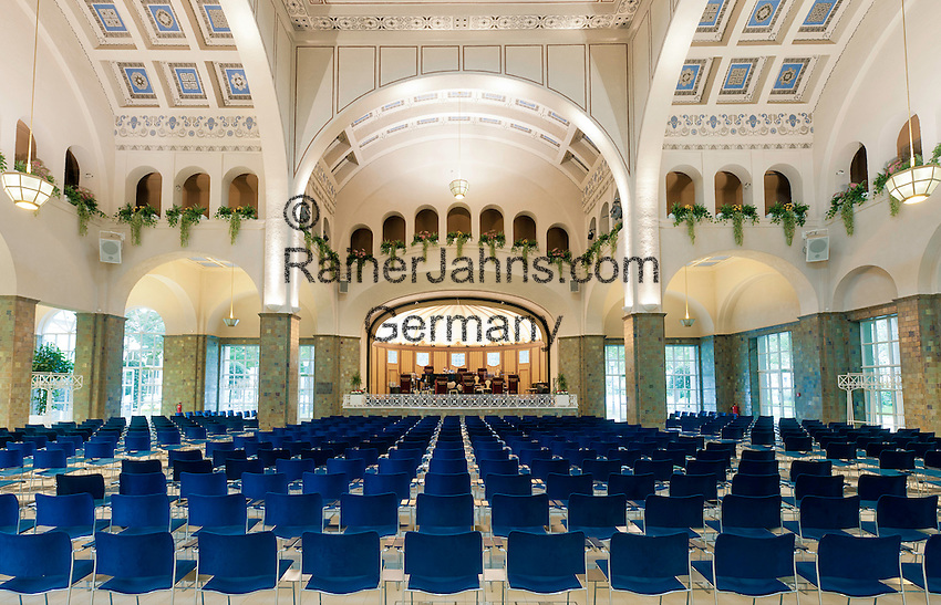 Germany, Bavaria, Lower Franconia, Bad Kissingen: concert hall at Wandelhalle | Deutschland, Bayern, Unterfranken, Bad Kissingen: Konzerthalle in der Wandelhalle