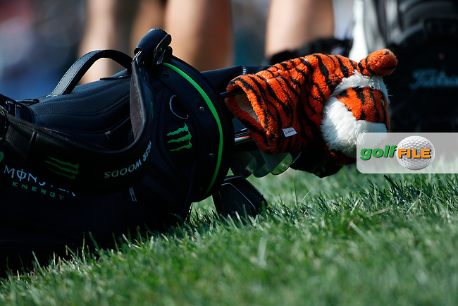 The bag of Tiger Woods (USA) rests on the 16th hole during the second round of the 100th PGA Championship at Bellerive Country Club, St. Louis, Missouri, USA. 8/11/2018.<br /> Picture: Golffile.ie | Brian Spurlock<br /> <br /> All photo usage must carry mandatory copyright credit (© Golffile | Brian Spurlock)