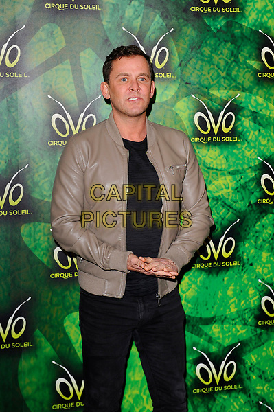 LONDON, ENGLAND - JANUARY 10: Scott Mills attending 'Cirque du Soleil - OVO' at the Royal Albert Hall on January 10, 2018 in London, England.<br /> CAP/MAR<br /> &copy;MAR/Capital Pictures