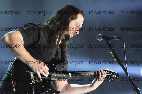 Dream Theater - guitarist John Petrucci performing live at Wembley Arena London UK - 10 Feb 2012.   Photo credit: Sarah Jeynes / IconicPix