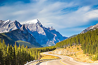Highway into Kananiski Country in Alberta Canada