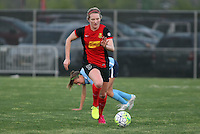 Piscataway, NJ, May 7, 2016. Samantha Mewis (5) of the Western New York Flash dribbles upfield.  The Western New York Flash defeated Sky Blue FC, 2-1 during a National Women's Soccer League (NWSL) match at Yurcak Field.